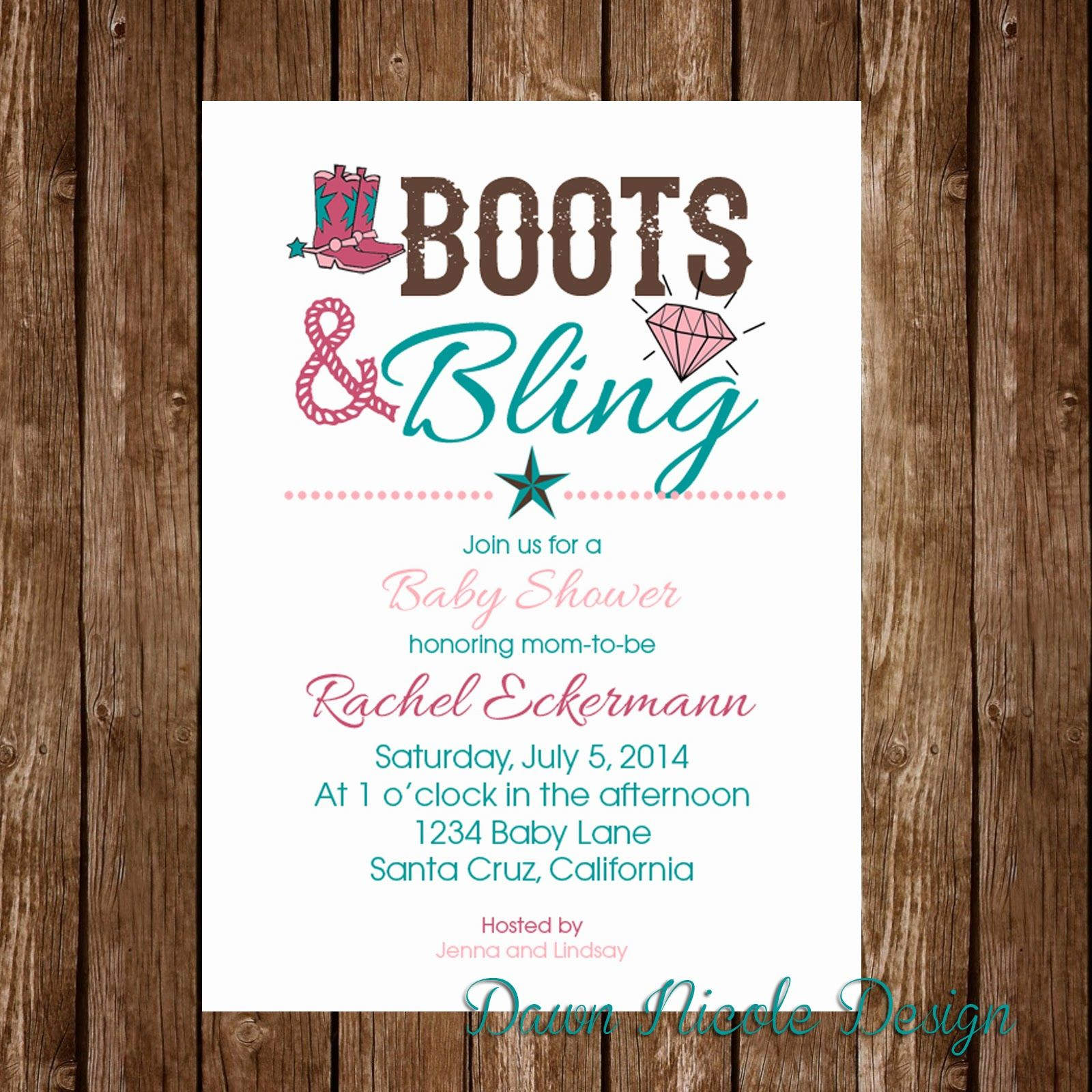 boots and bling party, boots and bling baby shower, boots and bling ...