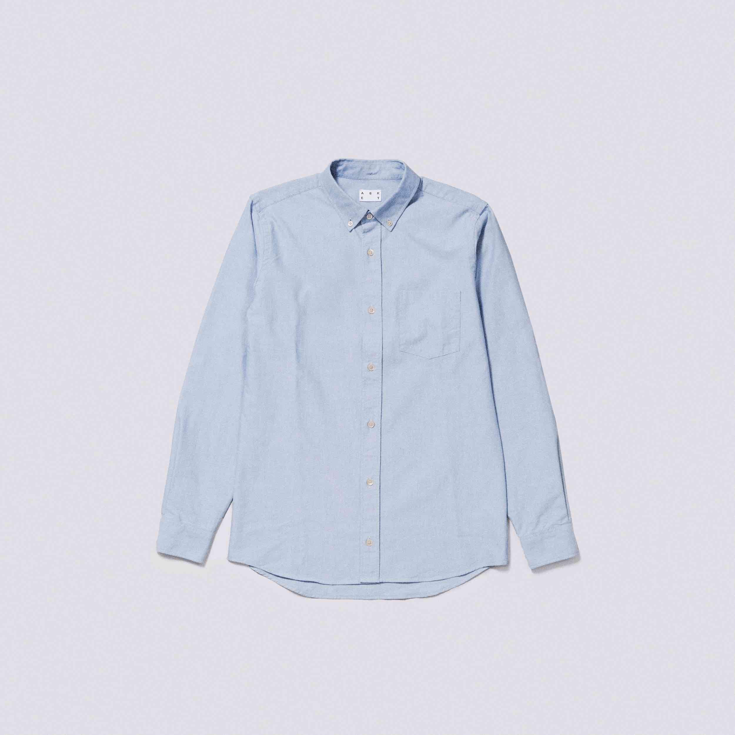 d27484febf5 Blue Oxford Shirt  asket