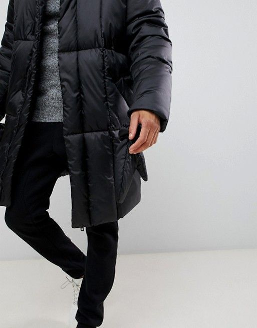 a0a9c3d76a4 ASOS DESIGN | ASOS DESIGN oversized puffer jacket with detachable mittens  in black