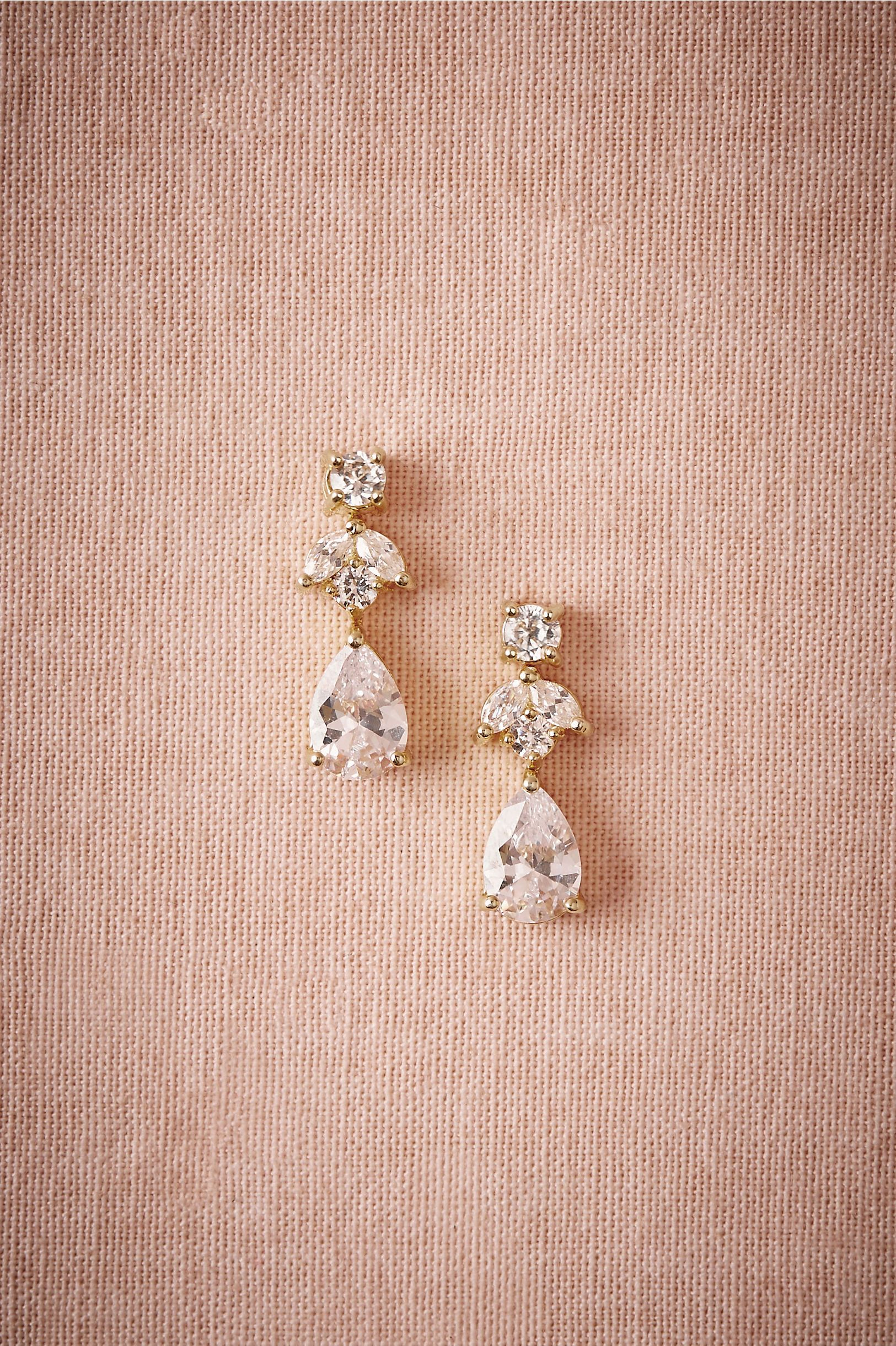 8e823d55a Petite Crystal Drops in Bride Bridal Jewelry Earrings at BHLDN ...