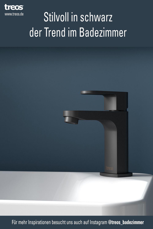 Der Trend Im Badezimmer Die Farbe Schwarz Waschbecken Schwarz Armatur Schwarz Badezimmer