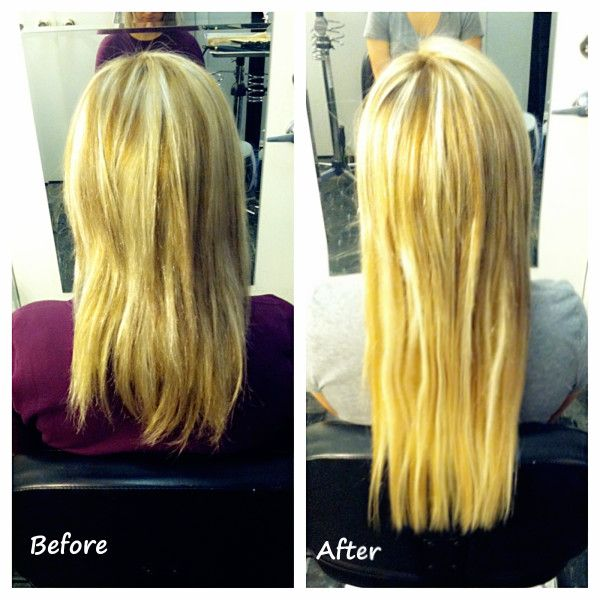 Hairextensions Beautiuflhair 18 Inch Fusion Hair Applied By Our