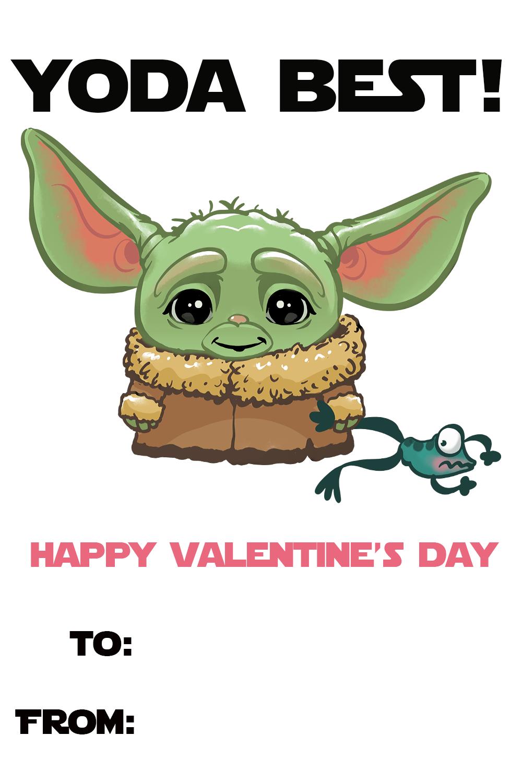 Free Baby Yoda Valentine S Day Printables Eat Drink And Save Money Yoda Valentine Cards Valentines Memes Valentines Cards