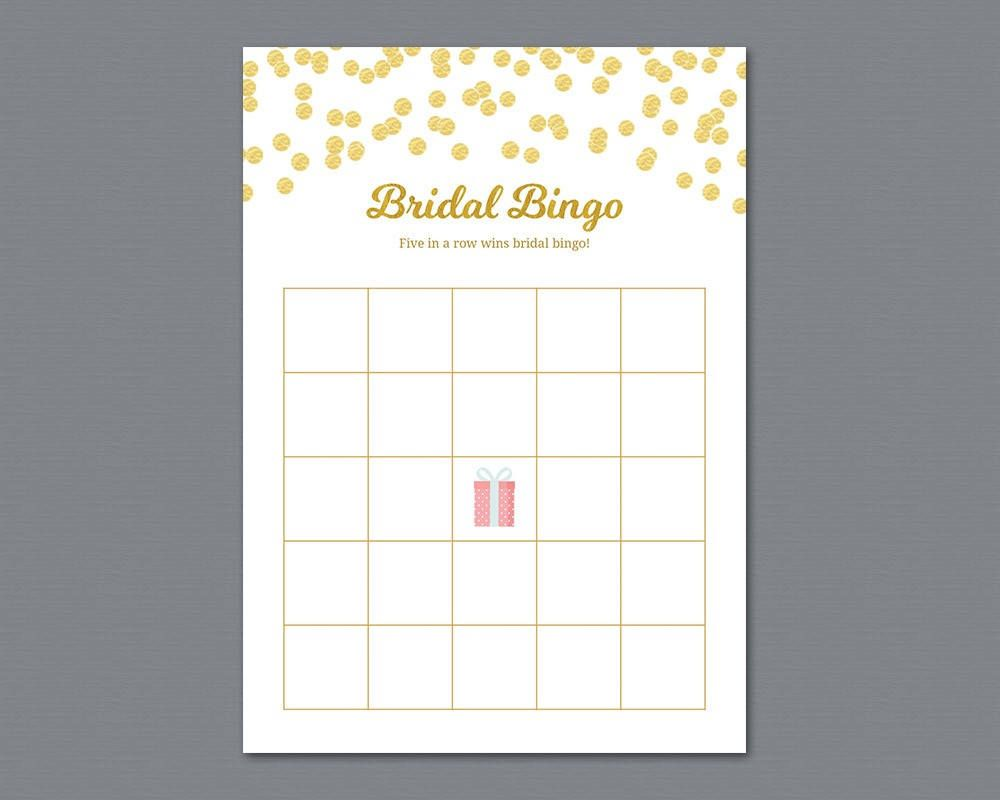 bridal bingo game cards bridal shower bingo template gold confetti bingo cards printable glitter wedding shower instant download a002 bridalshower