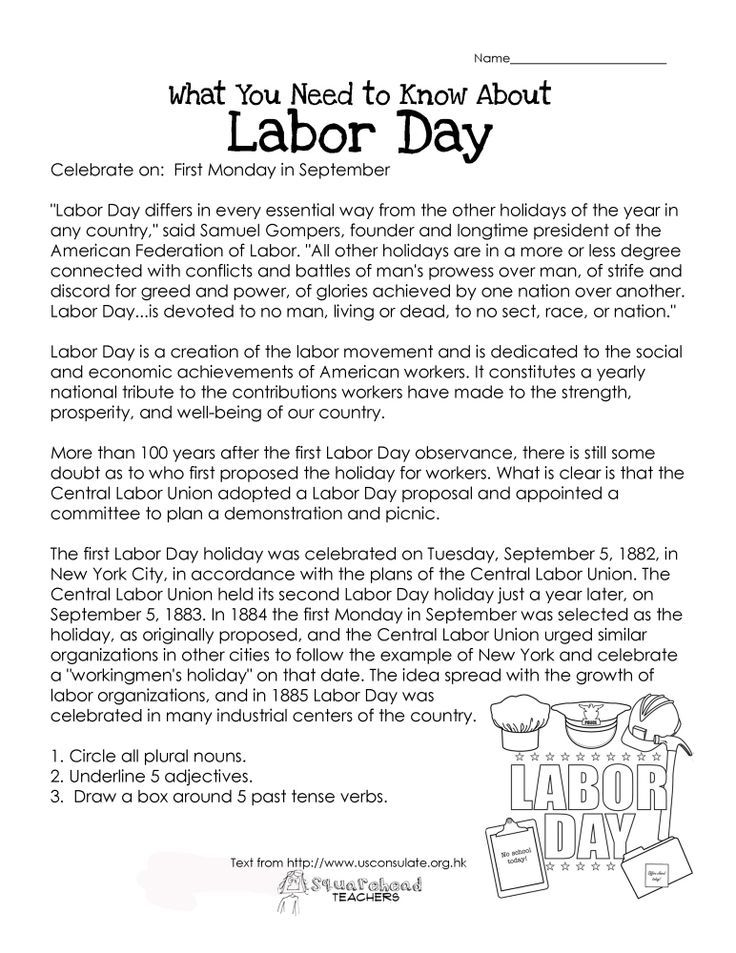 What You Need To Know About Labor Day Free Printable Worksheet For