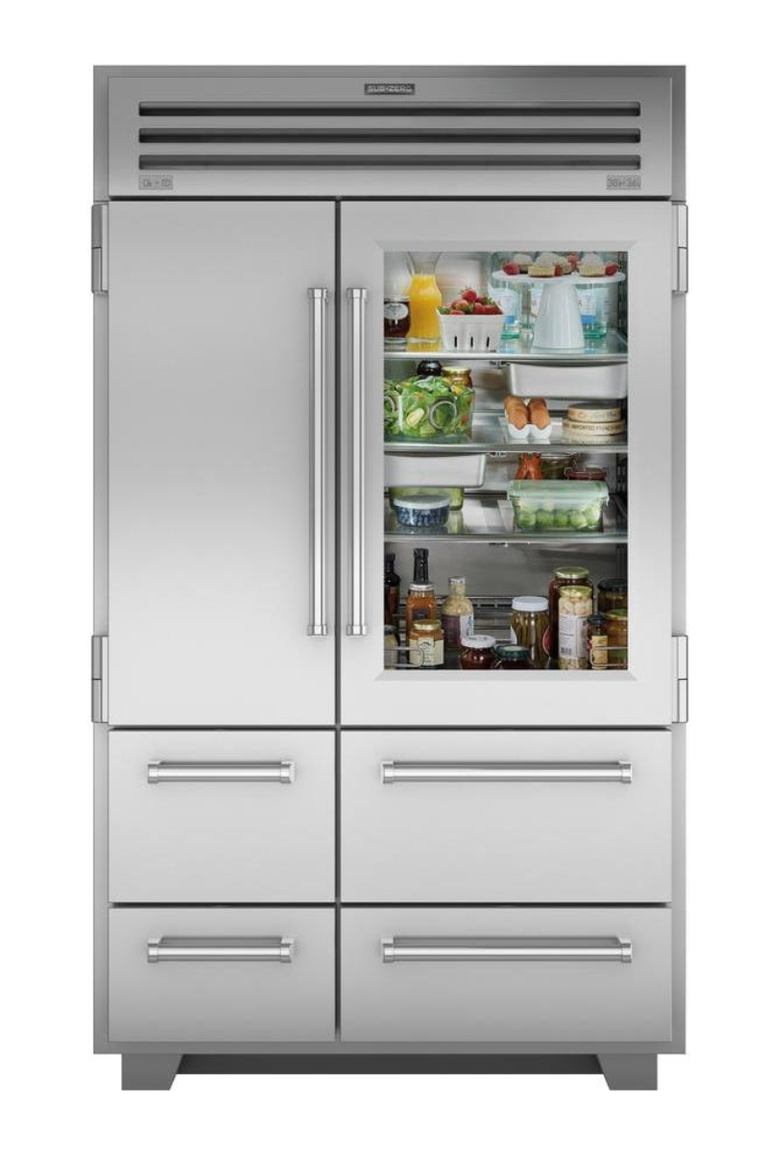 These Are The Best Built In Refrigerators You Can Buy In 2019 Glass Shelves Built In Refrigerator Glass Door Refrigerator