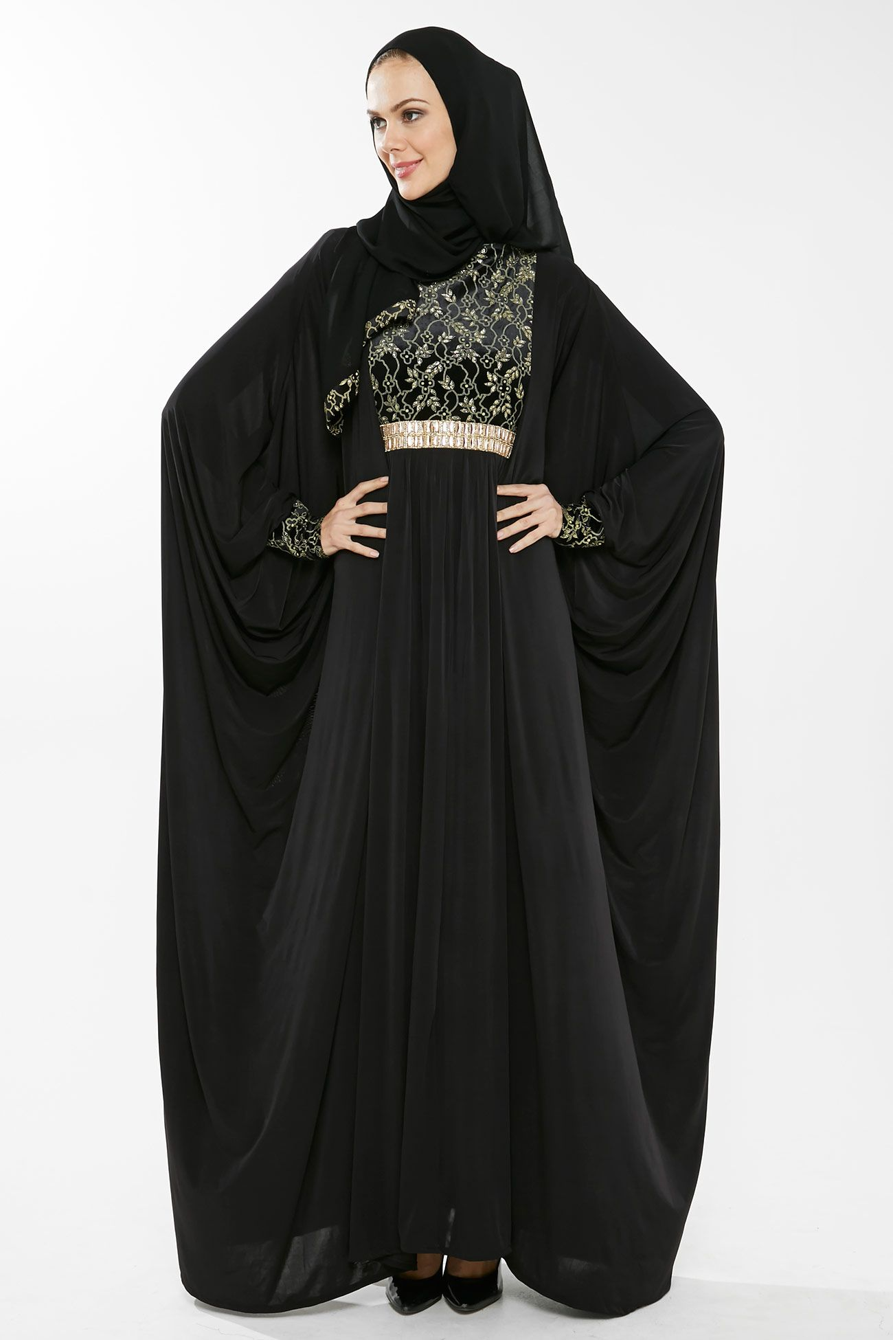 cd250c652 Black Abaya, Fantasy Gowns, Abaya Designs, Maxi Styles, Abaya Fashion,  Kaftan