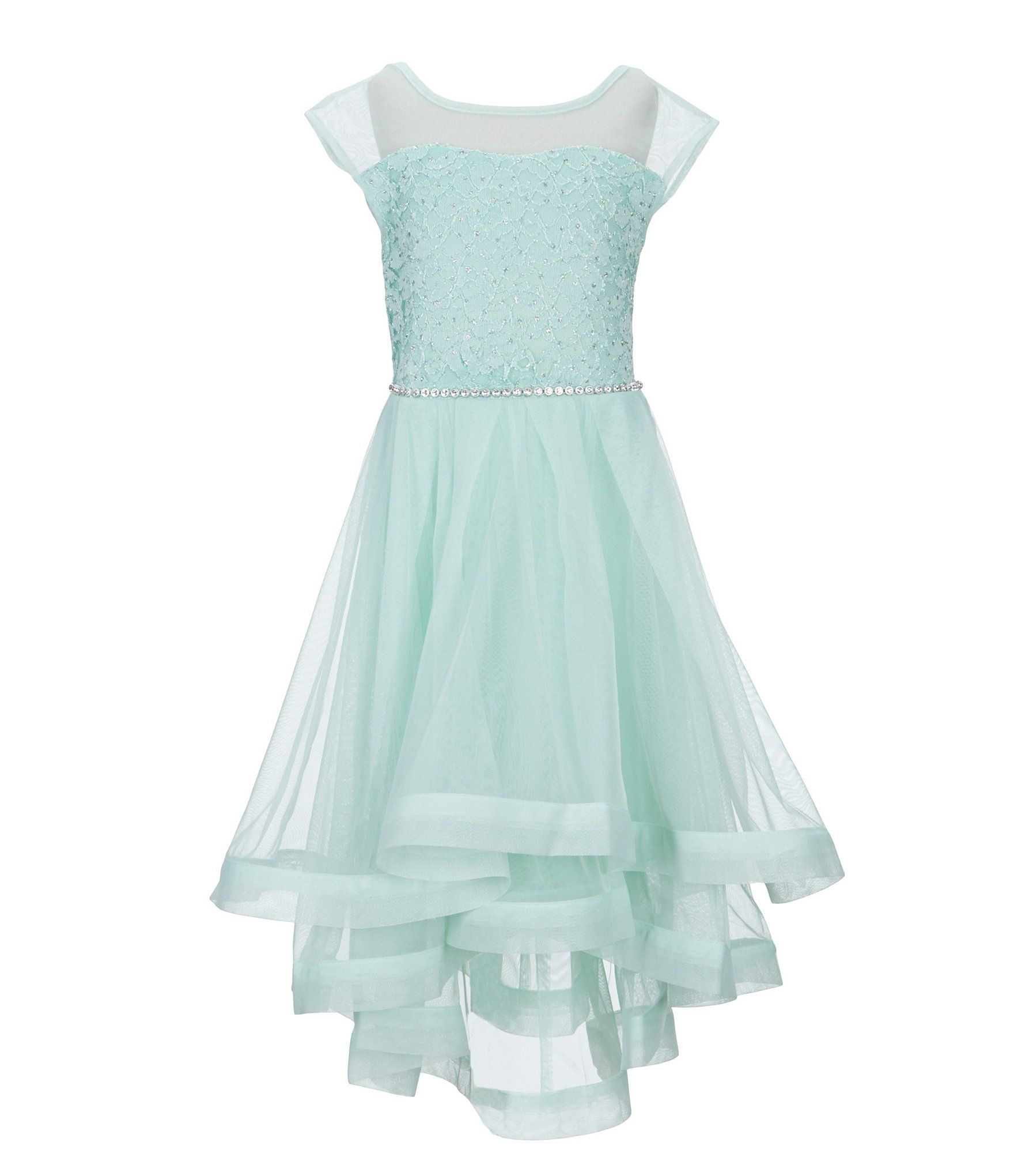 Xtraordinary Big Girls 7-16 Lace/Tulle Fit-And-Flare Dress ...