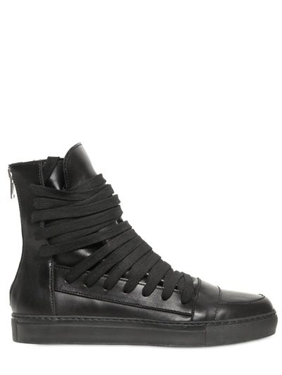 e43b6faf72 KRIS VAN ASSCHE LACE UP CALFSKIN HIGH TOP SNEAKERS. They re better in white  imho.