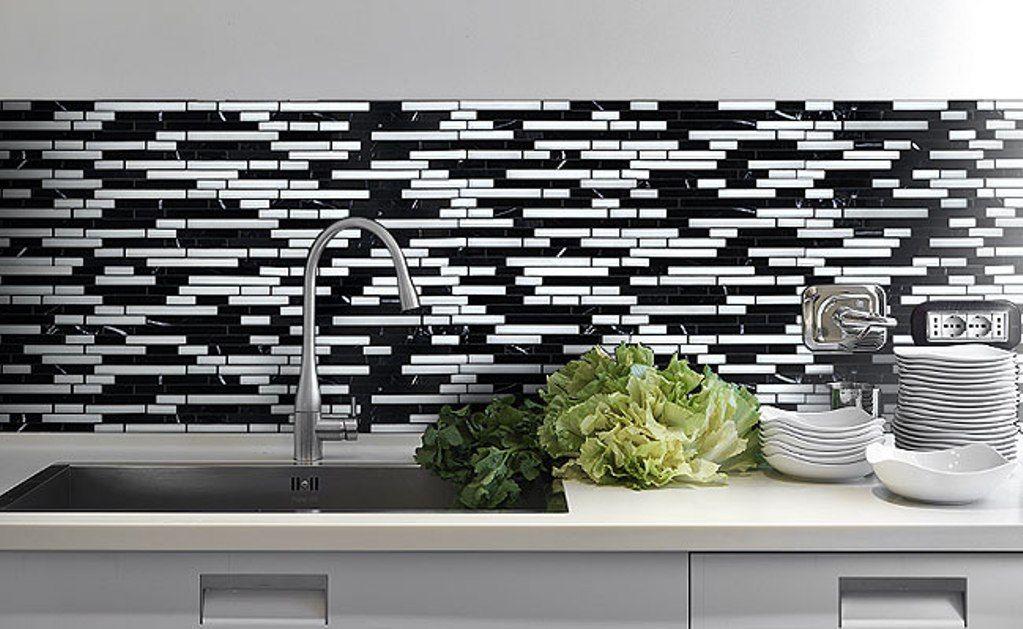 White Mosaic Tile Backsplash Küche Pinterest Küche - ideen für küchenspiegel