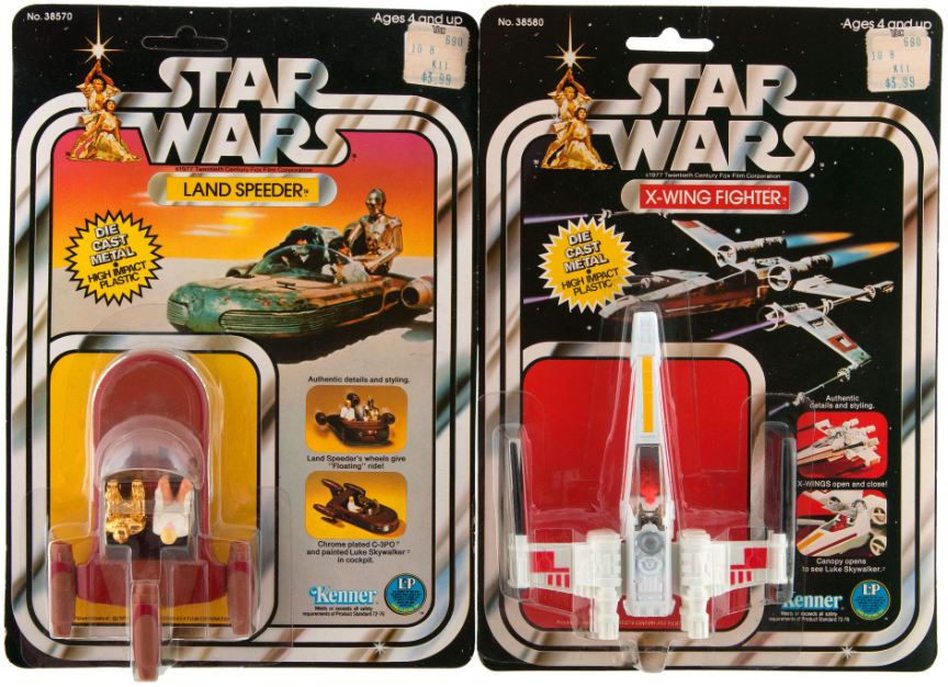 Die Cast Land Speeder and X-Wing Fighter