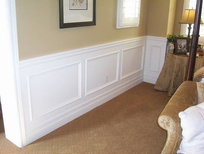 Install Chair Rail Panel Molding And Paint It White Hang Grasscloth Above Wainscoting Styles Wainscoting Panels Faux Wainscoting