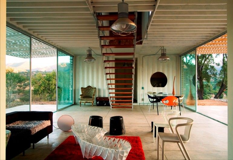 Inside Shipping Container Homes | ... house or granny flat from containers  go to