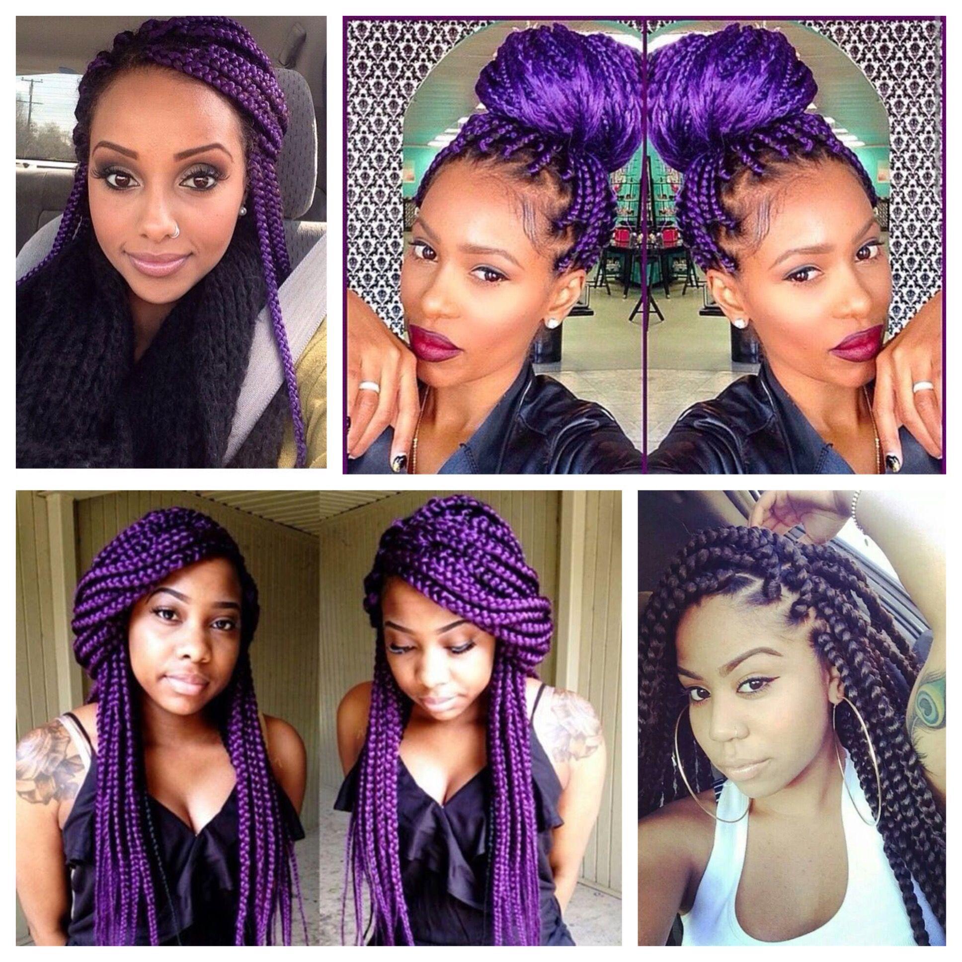 purple box braids - Google Search | box braids | Pinterest ...