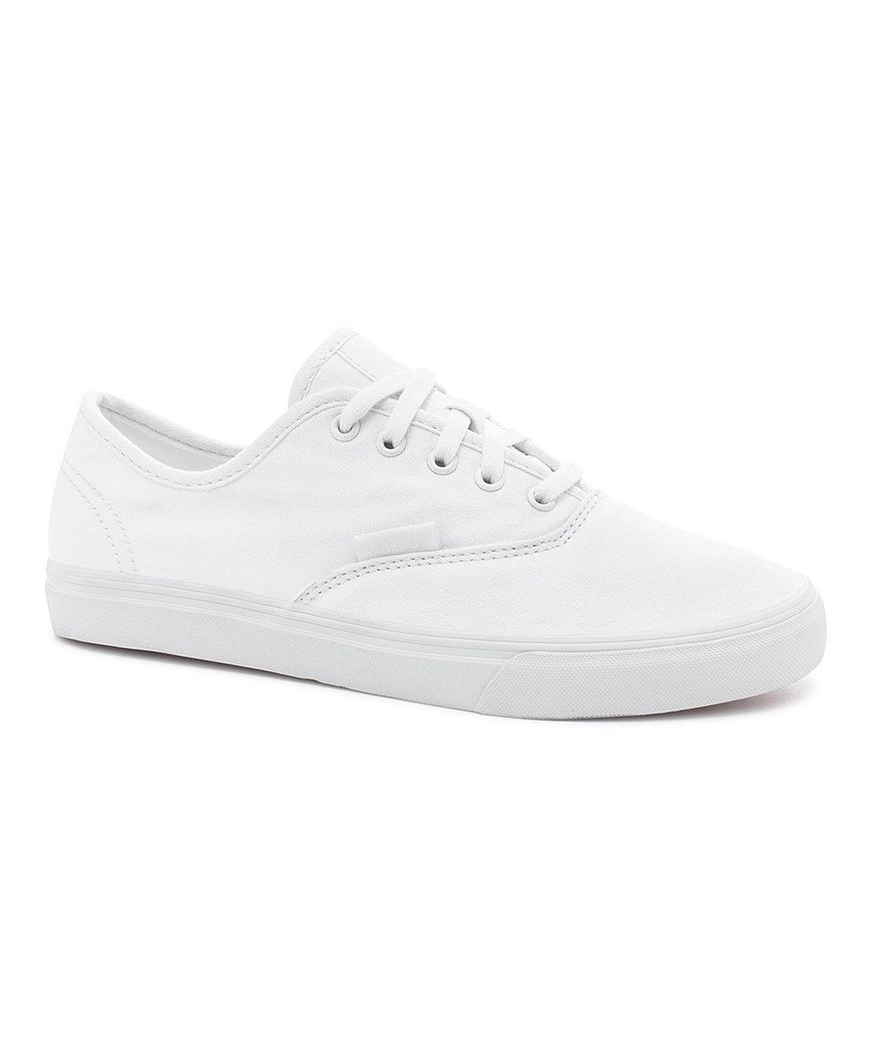 Love this FILA White Classic Canvas Sneaker - Women by FILA on #zulily! #zulilyfinds