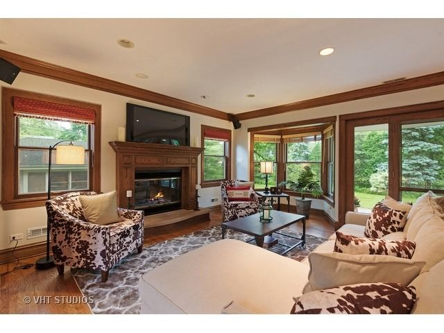 Home With Keki  Edgecomb Gray By In Great Room With All Wood Trim