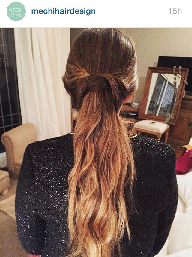 Bonito y sencillo peinados semi recogido Fotos de las tendencias de color de pelo - Semi recogido peinado   Tocados de novia, Peinados, Recogido