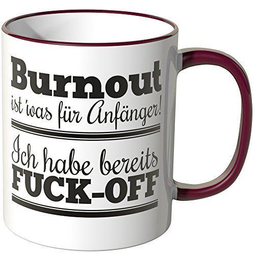 Kaffee-Tasse Waschbrettbauch steht mir nicht Sixpack Tasse mit Innenfarbe