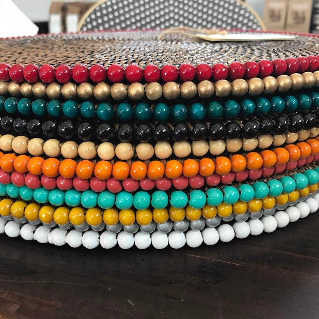 Calaisio beaded placemats come in a rainbow of colors!  At fine retailers.