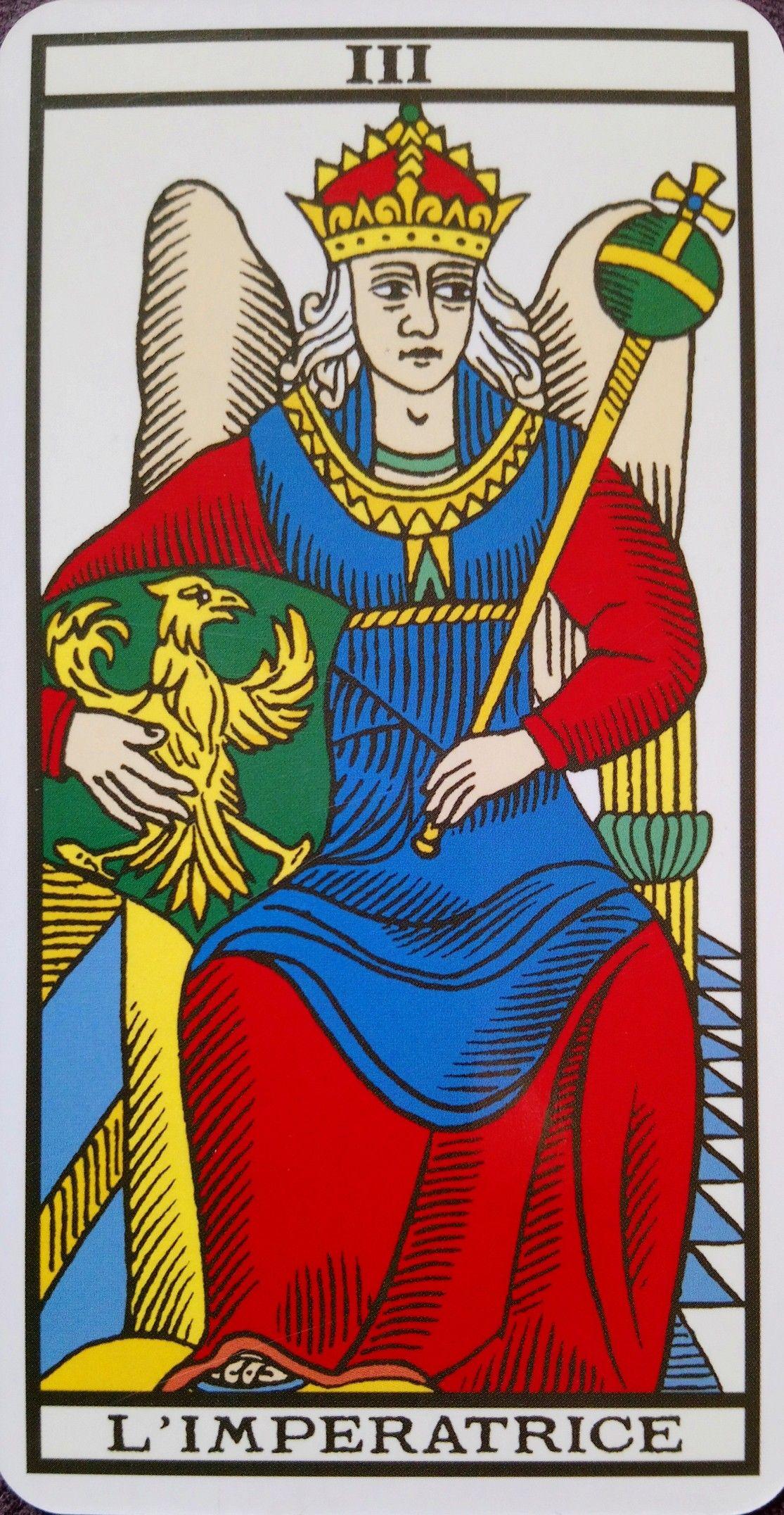 Le Véritable Tarot de Marseille (Kris Hadar)    die Herrscherin ... 2d1b4bf11b08