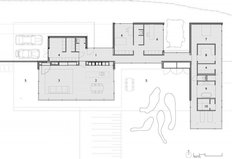 Hauspläne l-form  House Faes by HVH Architecten | Architecture plan, Architecture ...