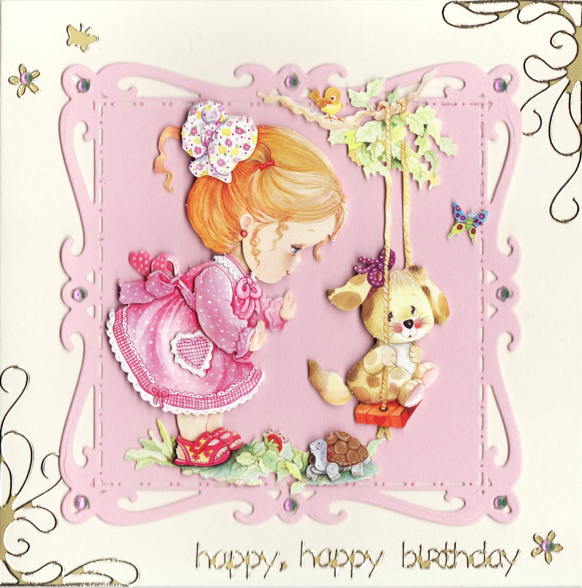 3D 'Happy, happy Birthday' Card