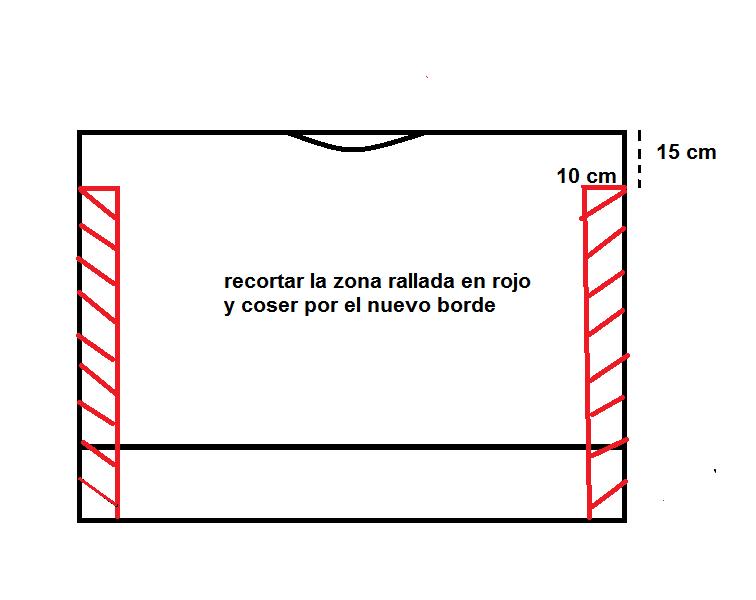 DIY: top fácil con un rectángulo de tela. (2 versiones | GUSTY Y ...