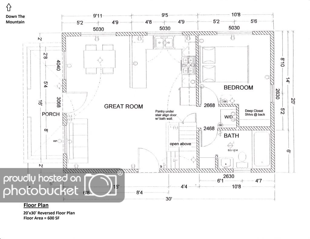 Rebirth Of A 20x30 1 5 Story Cabin Cabin Floor Plans Floor Plans Garage Floor Plans