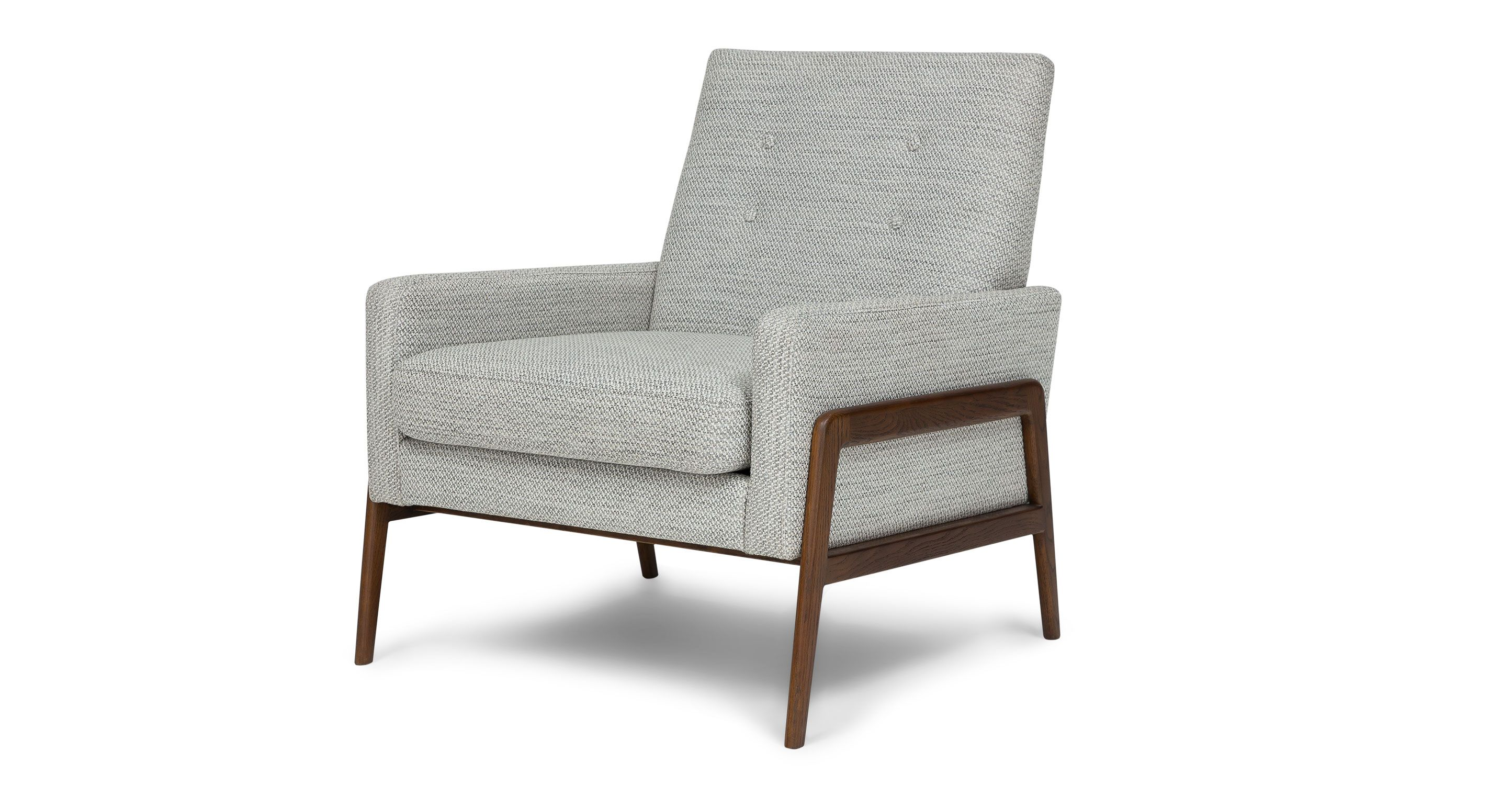 Modern light blue leather swivel lounge chair dove midcentury - Gray Accent Armchair In Fabric Article Nord Galaxy Modern Furniture