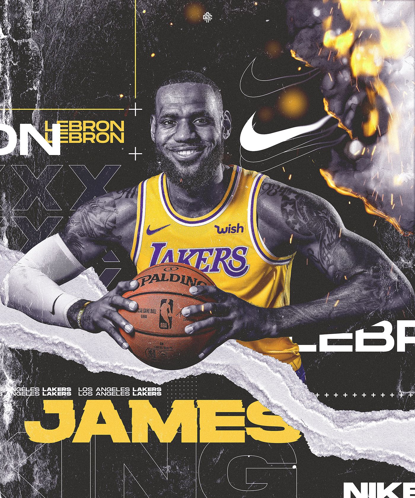 Lakers Lebron James Nike Personal Project On Behance Lebron James Finals Sports Design Inspiration Sports Graphic Design
