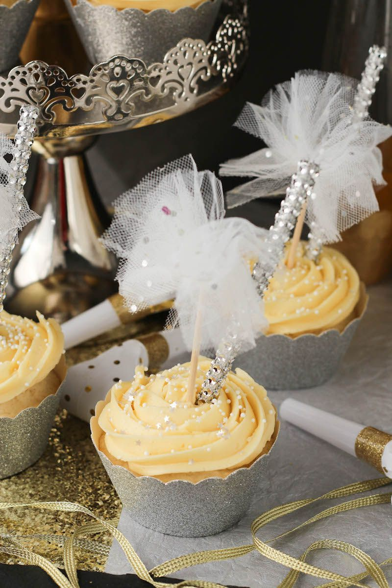 New Year's Eve Champagne Cupcakes Recipe Champagne