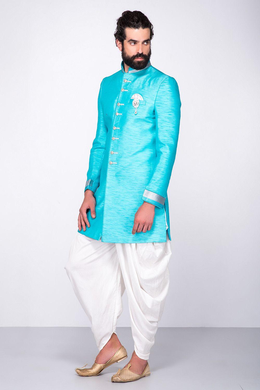 On Demand Wardrobe | Blue shorts and Sherwani
