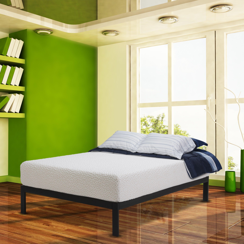 wolf rousseau latex hybrid 11 inch king size mattress and platform
