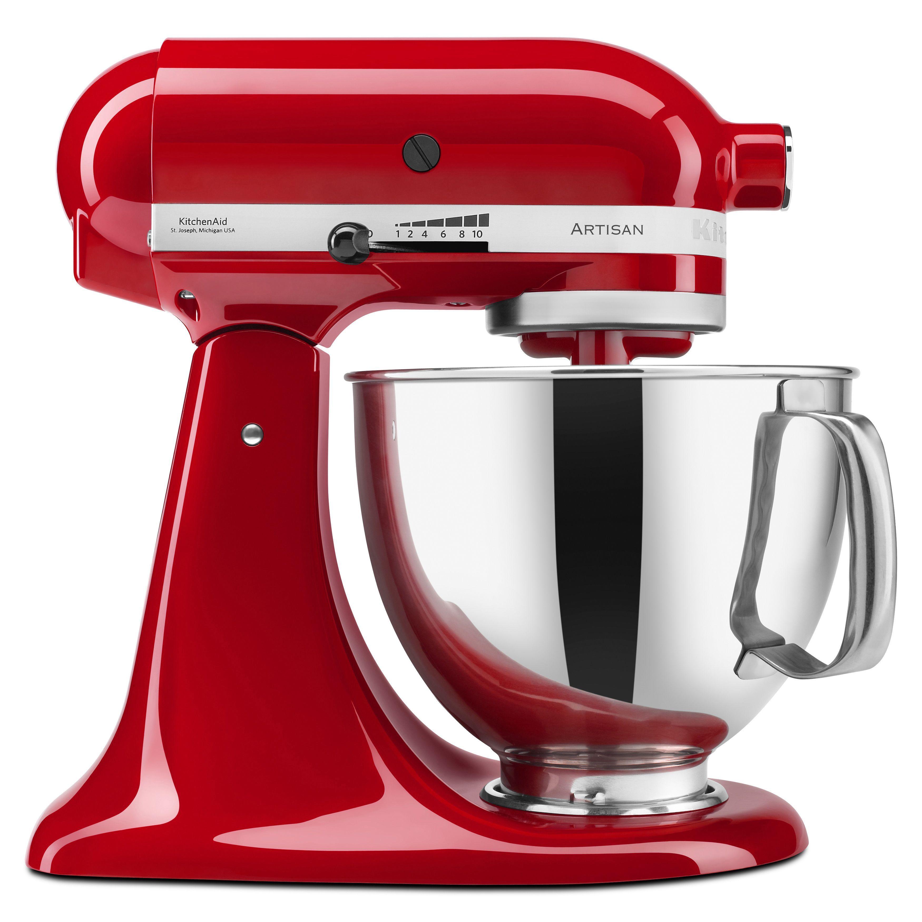 KitchenAid RRK150ER Empire Red 5 Quart Artisan Tilt Head Stand Mixer ( Refurbished) (Stainless Steel). Kitchen Aid MixerSmall Kitchen AppliancesRed  ...