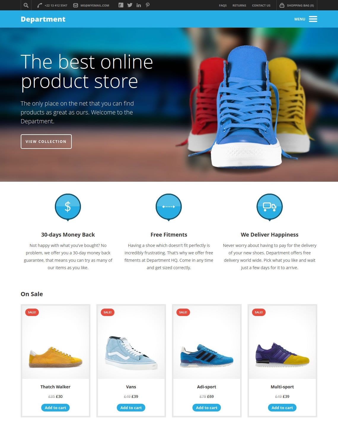 A multi-purpose eCommerce and business theme designed for those who sell fun and exciting products. $79