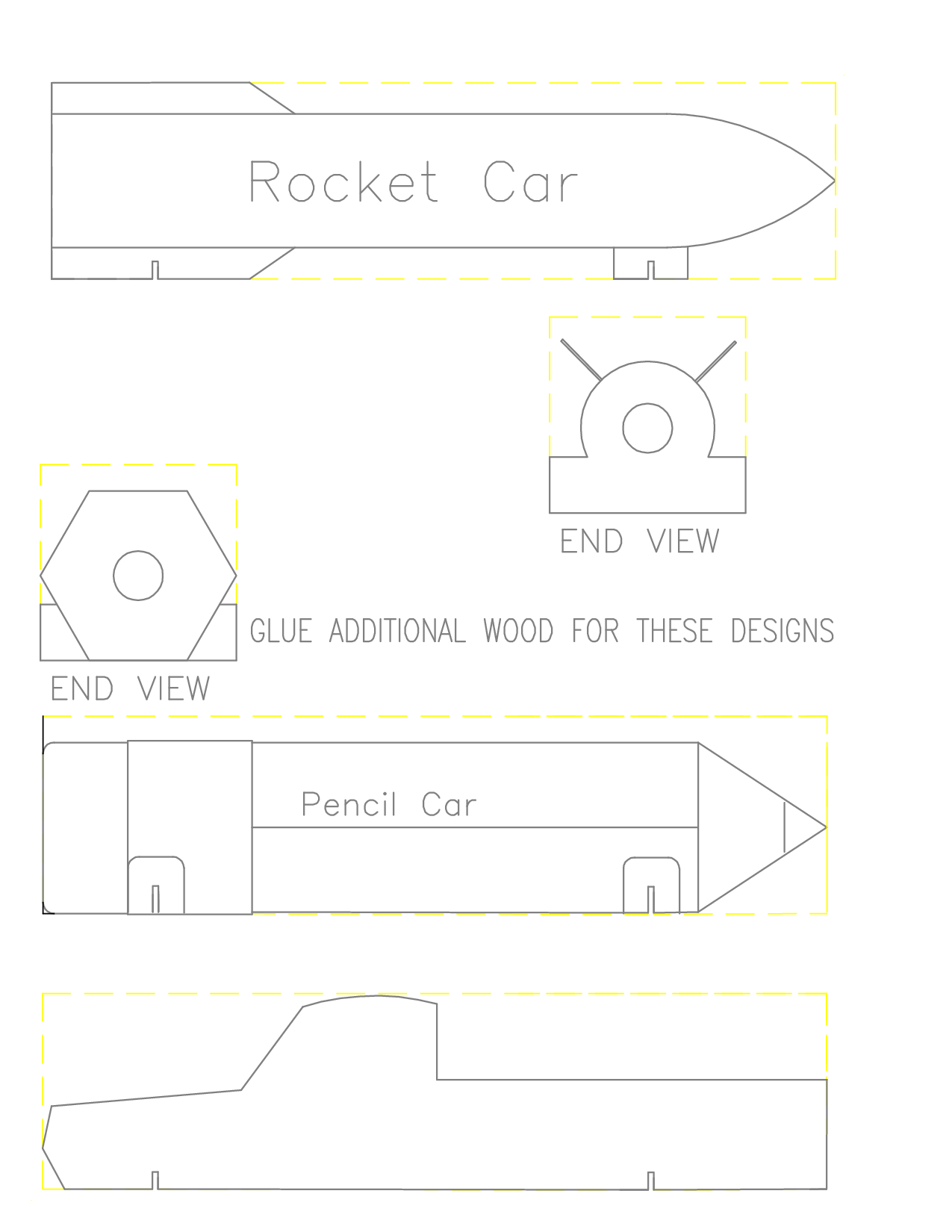Pinewood Derby Free Templates