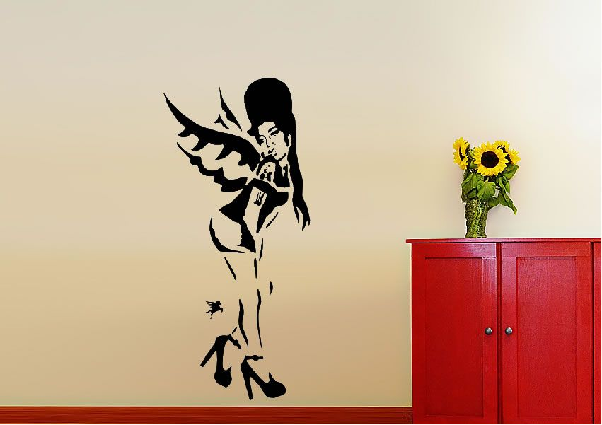 Banksy - Amy Winehouse wall decal.. | Stickers | Pinterest | Amy ...
