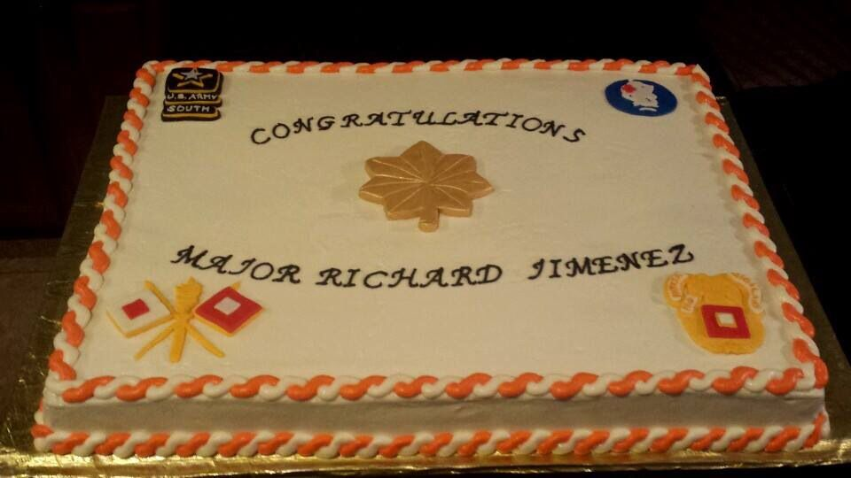 Army promotion cake made for a friend cake delights by for Army cake decoration