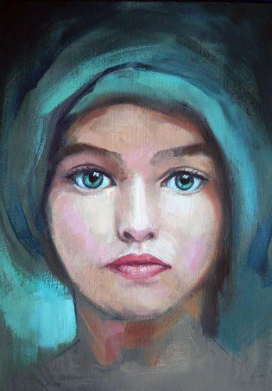 Ojos Verdes Pintura De Retratos Rostros De Arte Arte Del Retrato