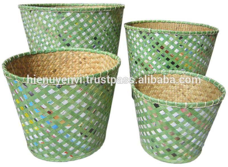 Vietnam Palm Leaf Laundry Basket Buy Colored Basket Baskets Dust