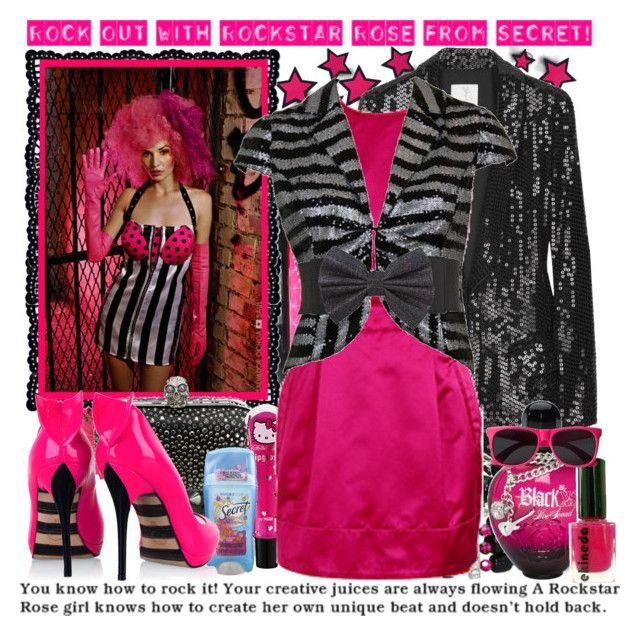 """Secret Scent: Rockstar Rose"" by knivesandpens ❤ liked on Polyvore featuring TIBI, Alexander McQueen, H&M, Tarina Tarantino, Richard Nicoll, Expressions, CO, Paco Rabanne, Georgina Goodman and women's clothing"