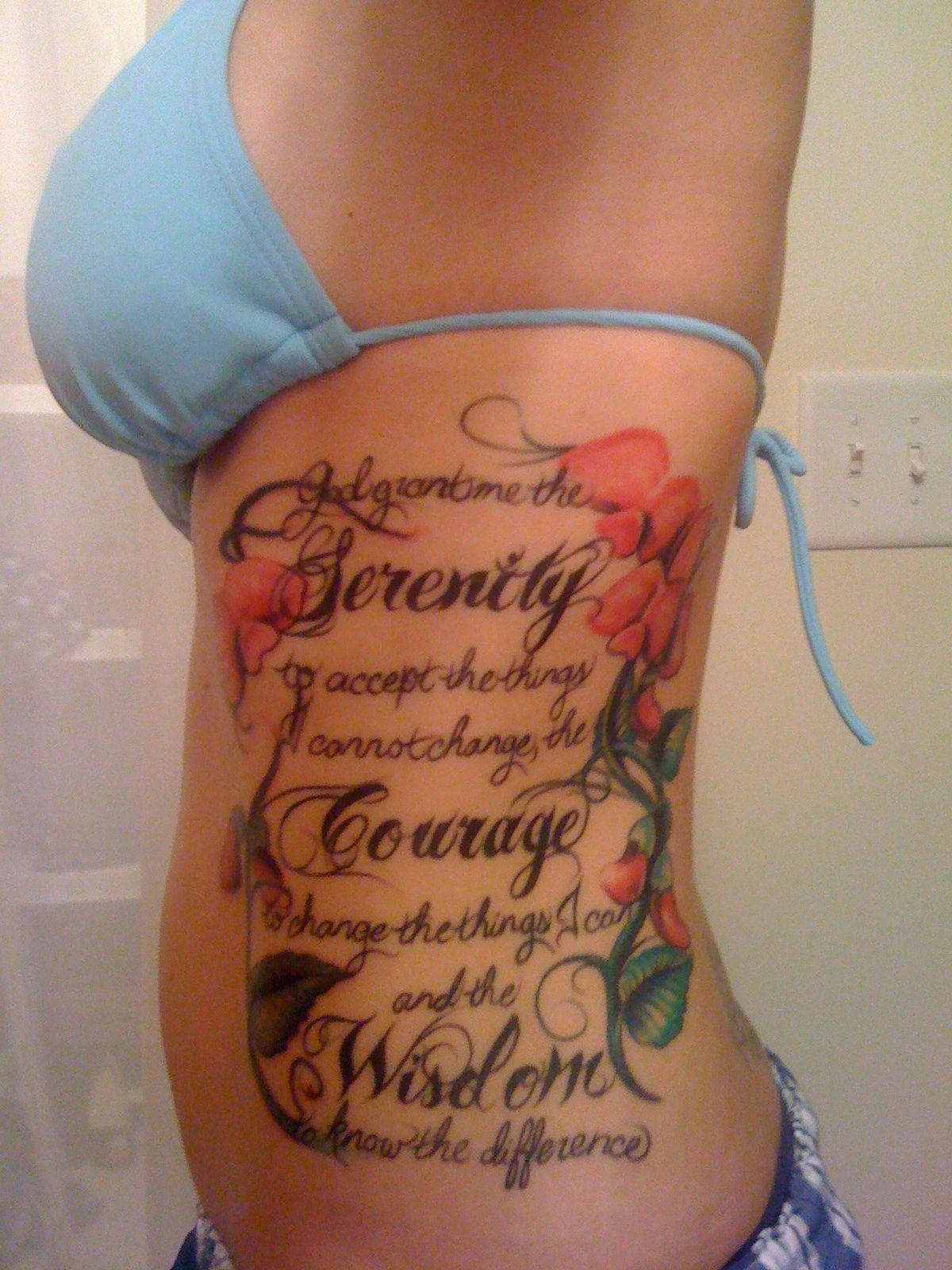 Tattoo Serenity Prayer byrdstattoo - YouTube