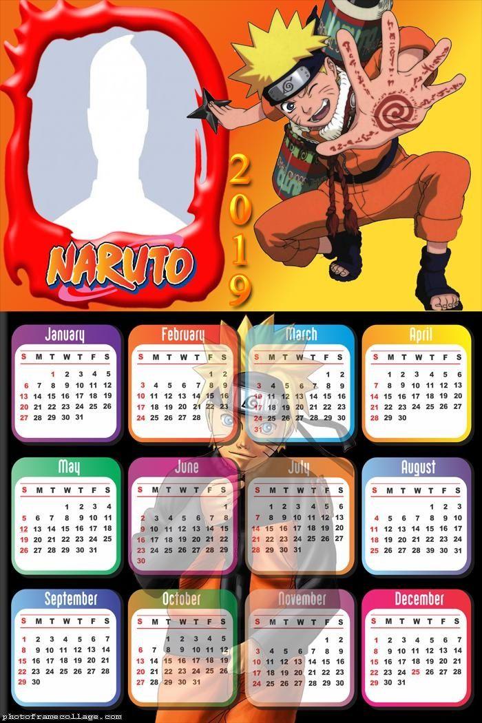 Naruto Calendar 2019 Frame Photo Montage Free Online