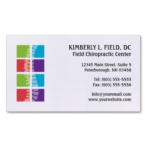 Color Blocks Spine Chiropractic Business Cards Zazzle Com Avery Business Cards Chiropractic Clinic Design