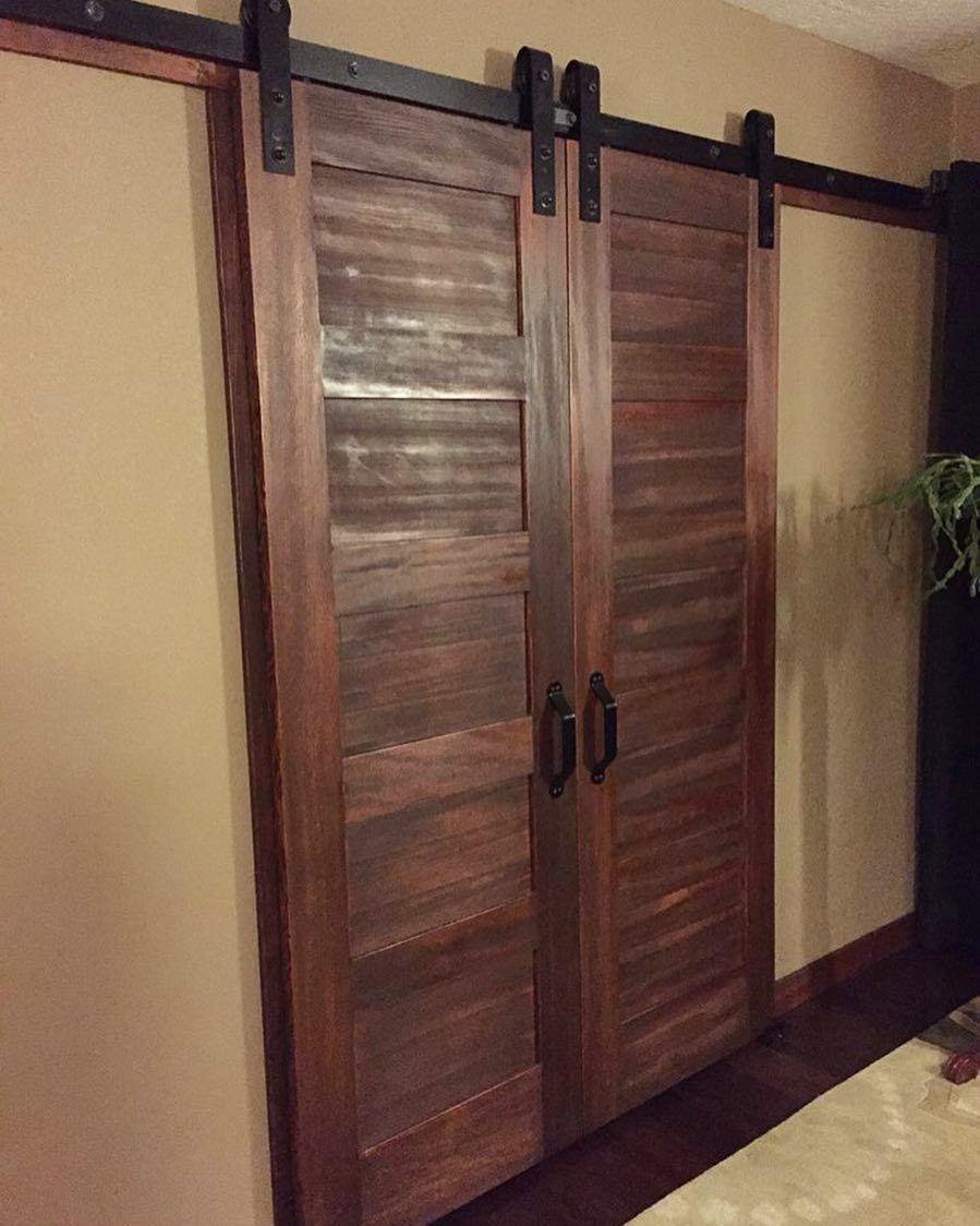 Bedroom Walk In Closet Doors Love The 5 Panel Doors With Rusticas