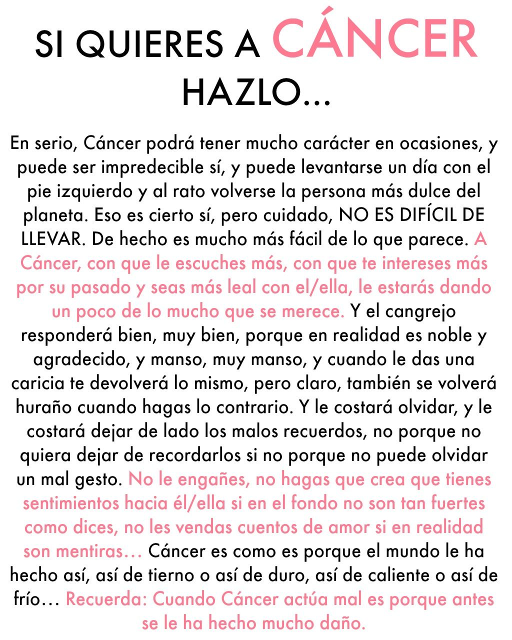 Si Quieres A Cancer Con Imagenes Signos Del Zodiaco Acuario