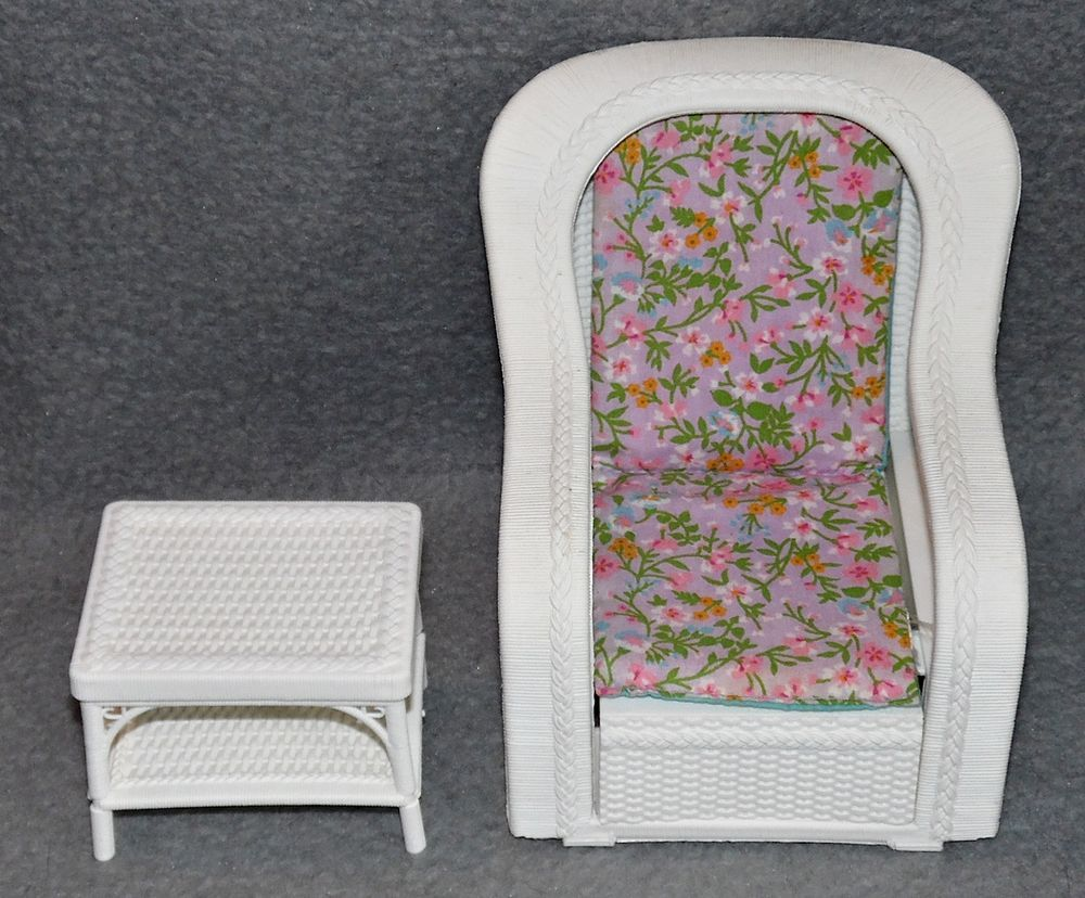 Barbie rattan de luxe m bel wohnzimmer sessel couch 80er - Rattanmobel wohnzimmer ...