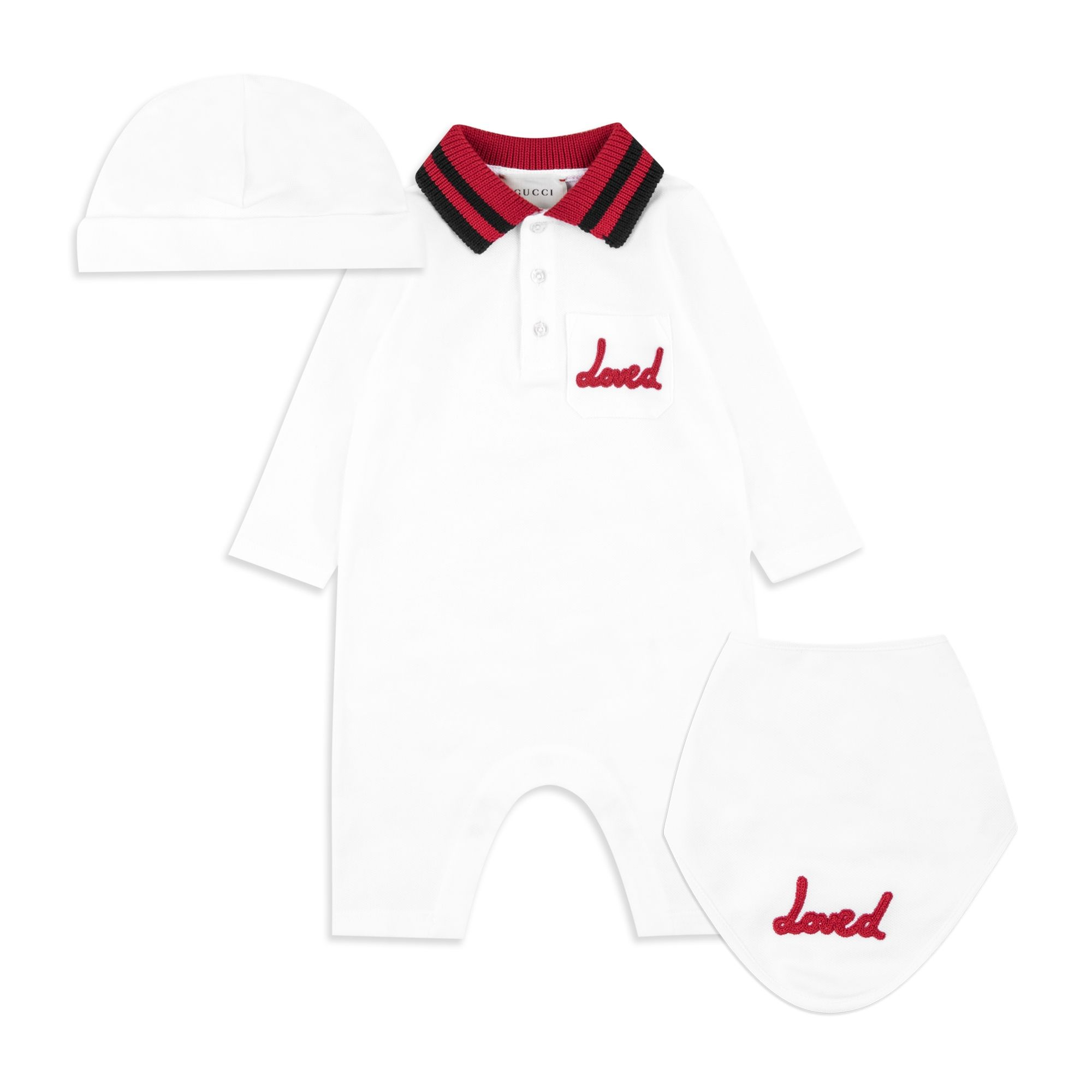 Baby Boys White Gift Set by GUCCI  da66dbde9b2f1