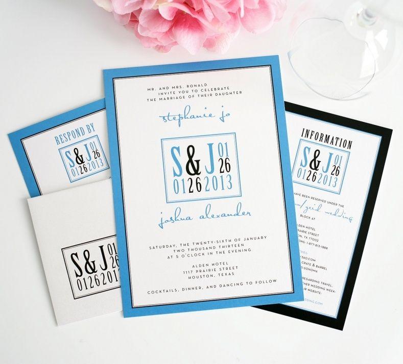 modern photo wedding invitations wedding invitations pinterest