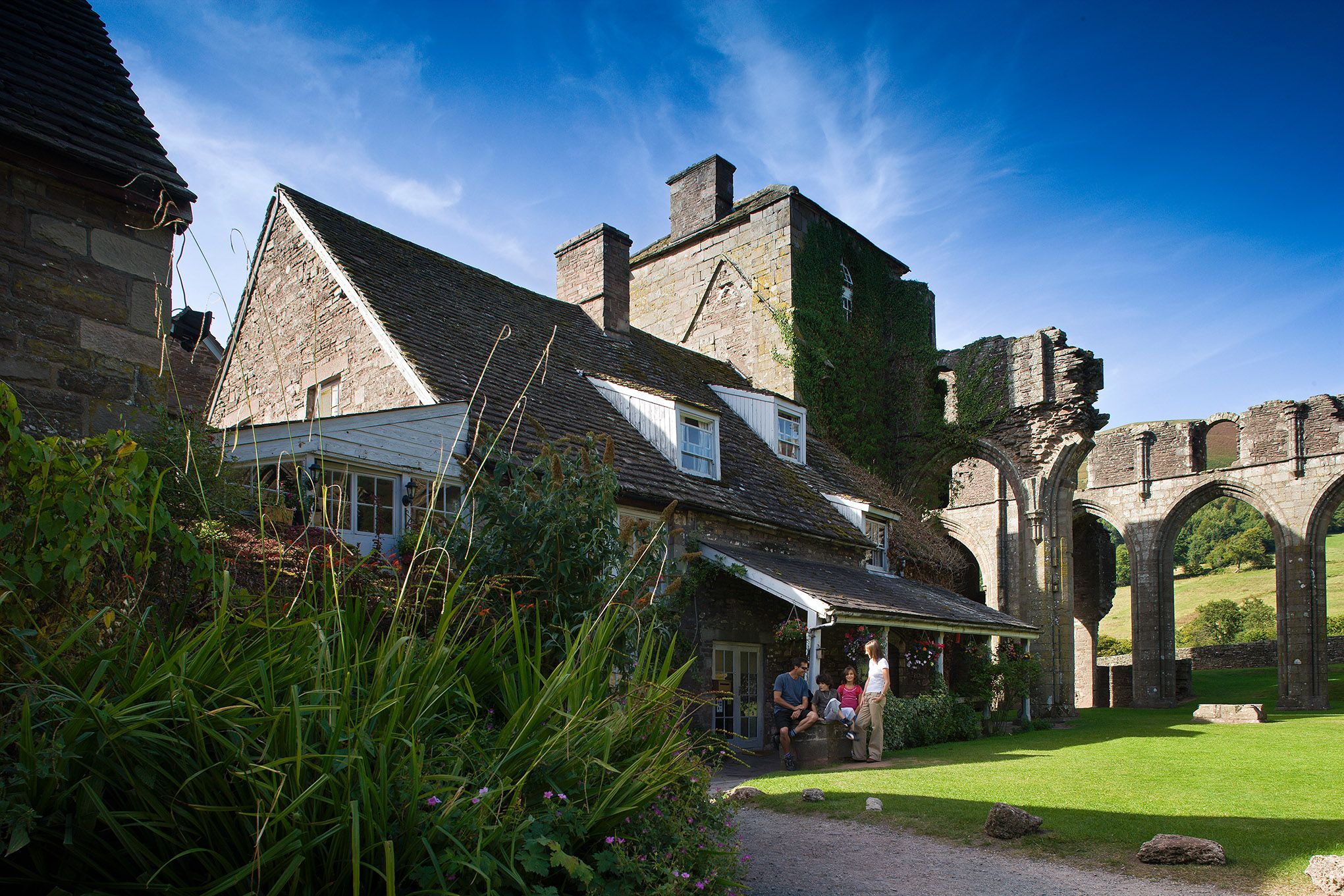 Abbey Hotel At Llanthony Priory In The Black Mountains Area Of Brecon Beacons Mid